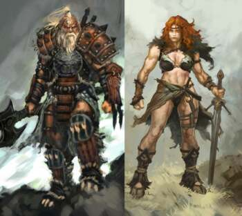 Diablo 3 Barbarian Art