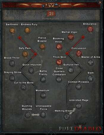 Diablo 4 Barbarian Talent Tree