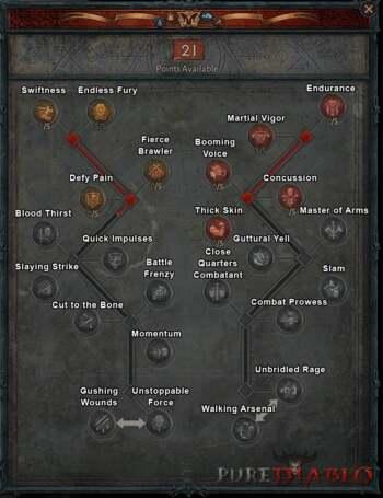 Diablo 4 Barbarian Talent Tree