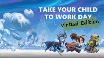 Blizzard Take your child to work day