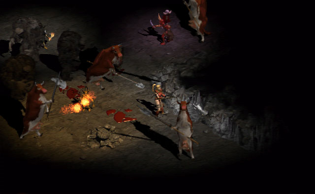 Diablo 2 cow level 1999
