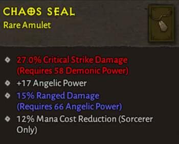 Chaos seal - Diablo 4 Item