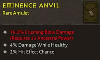Eminence Anvil - Diablo 4 Item