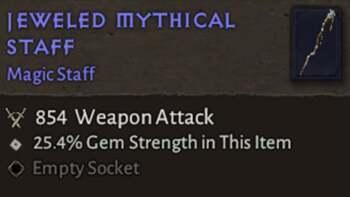 Mythical Jeweled Staff - Diablo 4 Magic Item