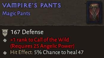 vampire's Pants - Diablo 4 Magic Item