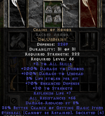 Chains of Honor Runeword DolUmBerIst