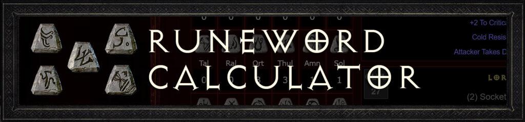 New Diablo 2 -Runeword-calculator