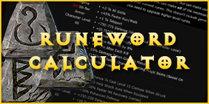 runeword calculator
