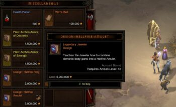 Hellfire Amulet recipe from Squirt.