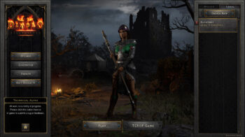 Diablo 2 Resurrected Technical Alpha Character-Selection