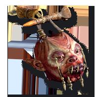 Diablo 2 Zombie Head
