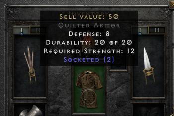 Diablo 2 Item sockets