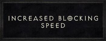 Diablo 2 increased blocking speed