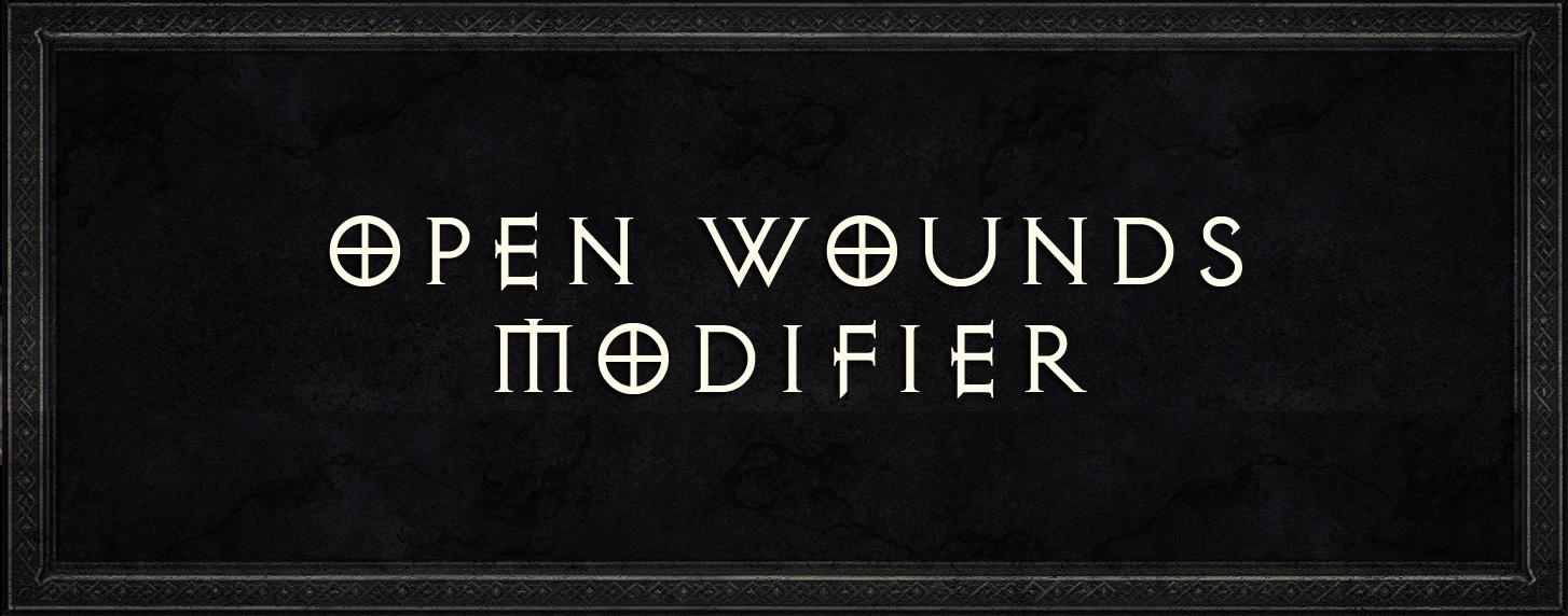 Diablo 2 open wounds modifier