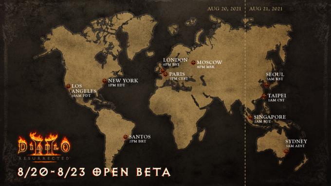 Diablo 2 Resurrected beta test dates announced