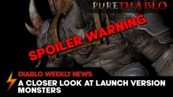 Diablo 2 Resurrected release version monster models - Spoiler warning