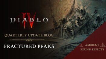 Diablo 4 Development Update - Sound Design